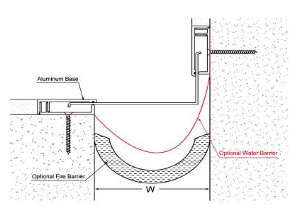 bản vẽ chi tiết của khe co giãn tường ngoài tiếp giáp với sàn